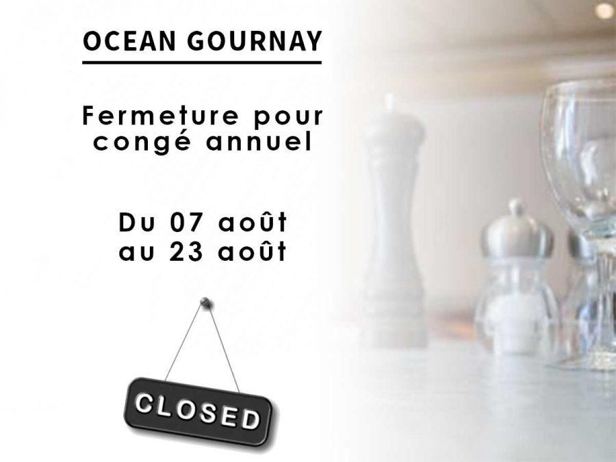 Congé annuel : fermeture du 07 août au 23 août